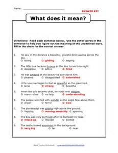 Context Clues Worksheets