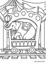 Circus Coloring Train Printable sketch template