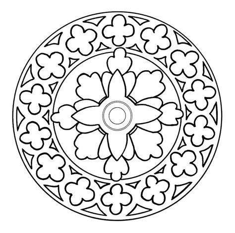 Mandalas De Flores Para Colorear  Az Dibujos Para