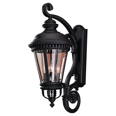 castle black four light outdoor wall light feiss wall