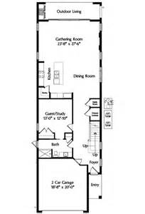 house plans for narrow lots narrow lot mediterranean house plan 42823mj 2nd floor master suite cad available den