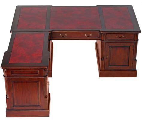 bureau style victorien bureau d 39 angle style anglais en acajou plateau cambridge