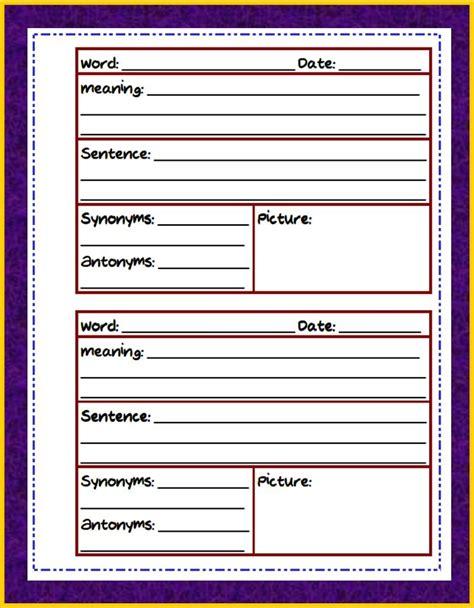 teaching   game vocabulary journal