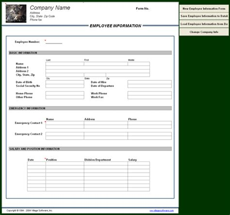 16079 employee information form luxury employee information form employee emergency