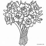 Coloring Flower Printable Sheets Flowers Colouring Bouquet Rose Cool2bkids Roses sketch template