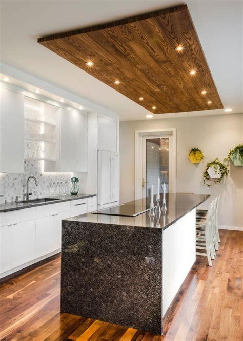 White Kitchen with Wood Ceiling   Naresh   Kitchen