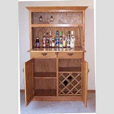 Hand Crafted Oak Liquor Cabinet By Jay's Custom Woodwork