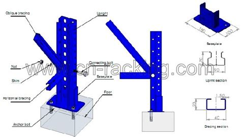 pallet rack upright chinese pallet rack upright manufacturers   china