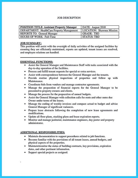 Program Manager Resume Sle by Apartment Manager Resume Property Manager Resume Sle Sle