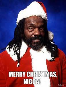 Black Santa Merry Christmas Meme