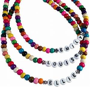40 best neat things made of alphabet beads images on With letter bead necklace