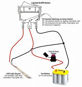 on off switch led rocker switch wiring diagrams oznium With led trailer light wiring diagram likewise led pod light wiring diagram