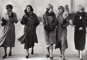 1930's street fashion, coats, hats! dress shoes found ...