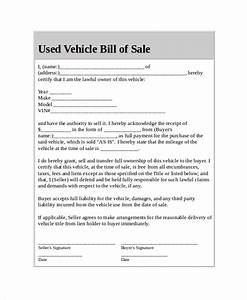 Car bill of sale 5 free word pdf documents download for Used car bill of sale template pdf