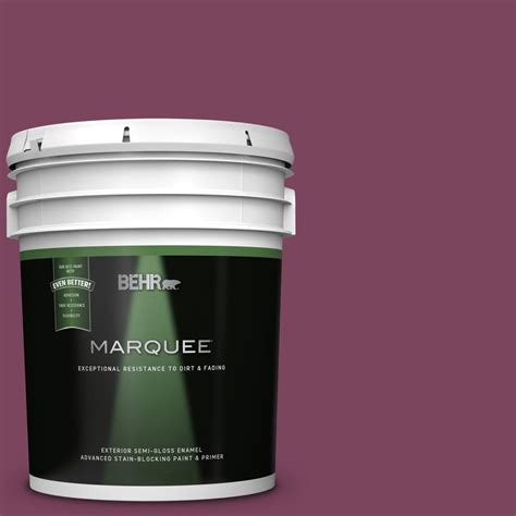 behr marquee 5 gal t17 artful magenta gloss enamel exterior paint and primer in one