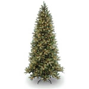 national tree co douglas fir 7 5 green downswept slim fir artificial christmas tree with 600