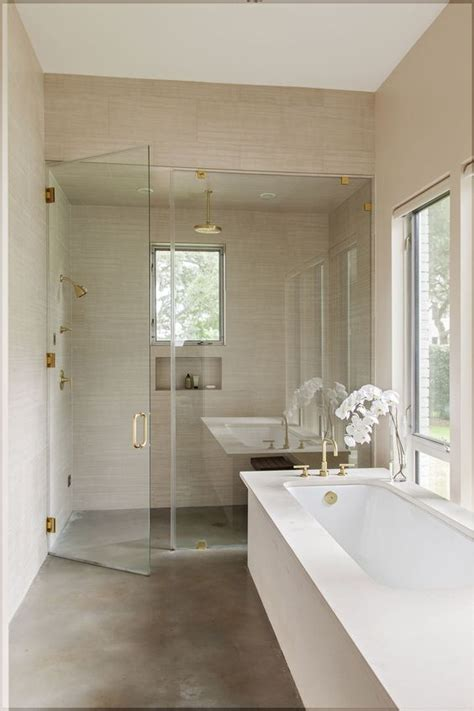 polished concrete bathroom floor shower floor ideas that reveal the best materials for the job