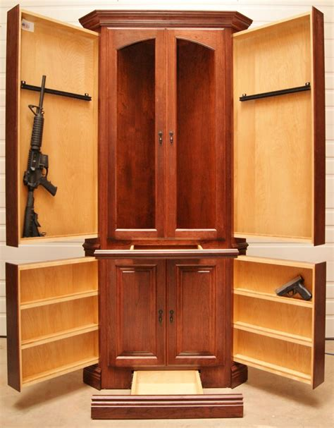 hidden wood gun cabinet how to build a corner gun cabinet woodworking projects