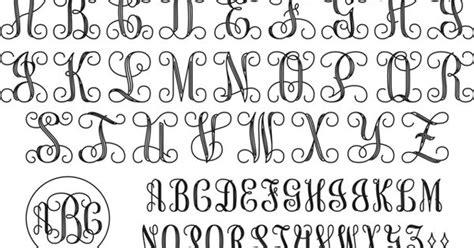 interlocking monogram script    pinterest monograms  fonts
