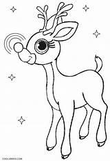 Rudolph Reindeer Coloring Nosed Printable Template Drawing Cool2bkids Antlers Getdrawings Getcolorings sketch template