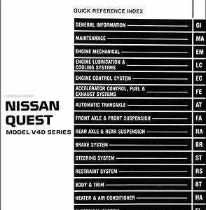 1998 Nissan Quest Fuse Diagram
