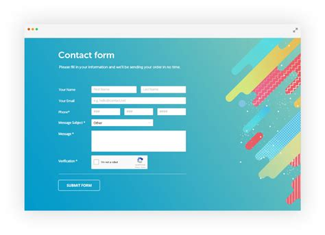how to make a working contact form in html 123formbuilder