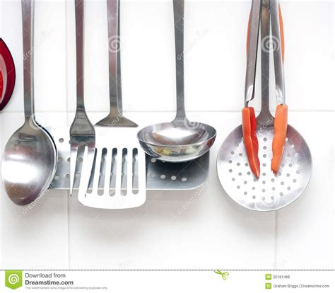 kitchen utensils stock photo image  items holes ladle