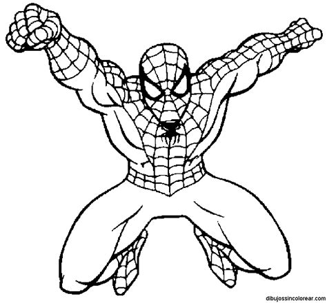 Spiderman  Free Colouring Pages