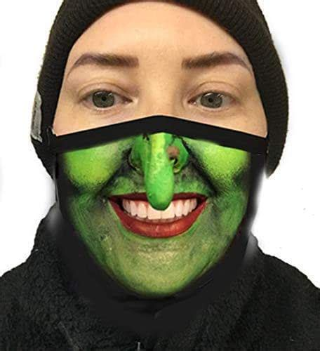 amazoncom witch face mask smiling green  teeth