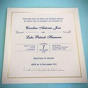 classic wedding invitations fine invitations sydney With foil wedding invitations sydney