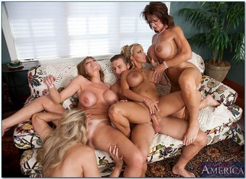 #Four #Naughty #Milfs #With #Comely #Juggs #Sharing #One #Cock #In #A