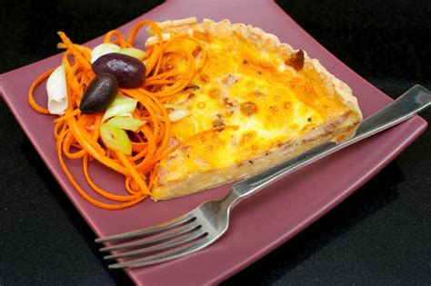delicious cheese  egg savoury quiche  stock image