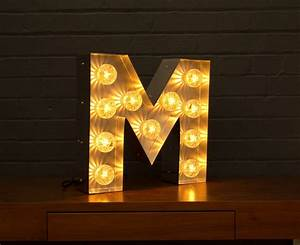 light up marquee bulb letters m by goodwin goodwin With marquee letter light bulbs