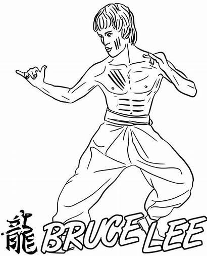 Bruce Lee Coloring Pages Actors Sheet Printable