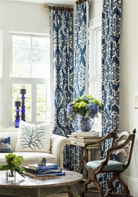 Navy Blue And White Drapes - blue ikat curtains blue white curtains navy drapes