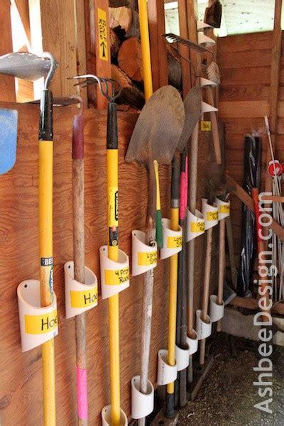 organization diy  garden tool organizers  pvc
