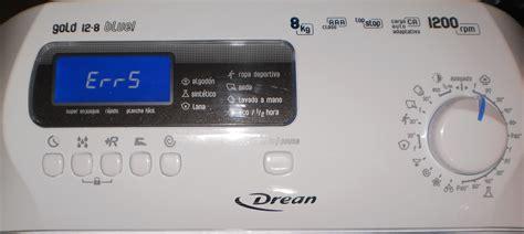 solucionado error 5 en lavarropas drean gold blue de 8 kilos drean yoreparo