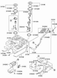 2009 Hyundai Santa Fe Sensor - Fuel Tank Pressure  Ulev