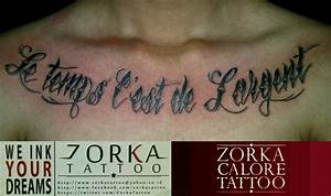 Time is money on chest by zorka calore tattoo by ...