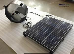 China Power Storage 40watt 14inch Solar Powered Attic