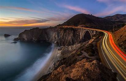 Highway Pacific Coast California Coastline Lapse Creek