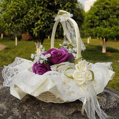 wedding flower basket wedding blower basket ceremony
