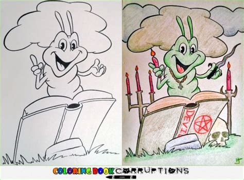 corrupted coloring book pages neatorama