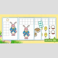 * New * Easterthemed Count And Find The Matching Number Shapes Cards