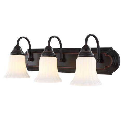 shop portfolio  light oil rubbed bronze vanity light