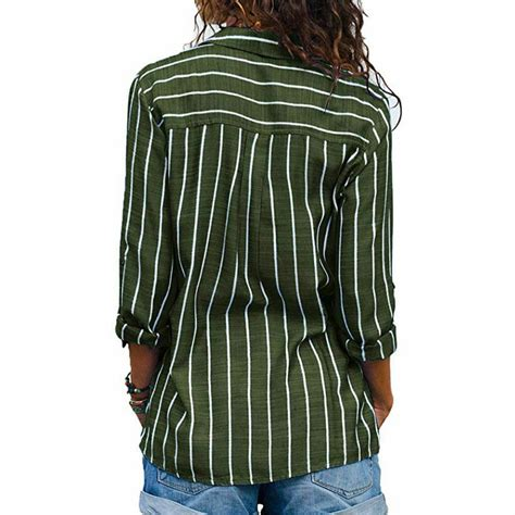 CaNIS Womens Long Sleeve Office Loose Blouse Casual Tops ...