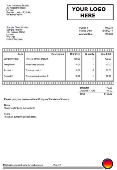 sample invoices created    invoicing software