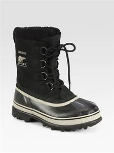 Sorel Caribou Waterproof Boot in Black for Men | Lyst