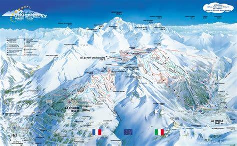 la rosi 232 re plans des pistes domaine skiable sur la rosi 232 re