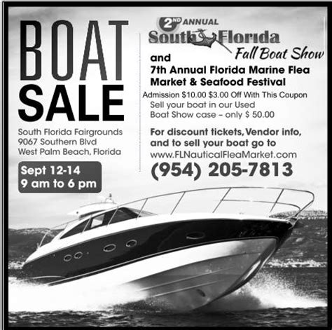 boat ad florida market flea south marine fall annual 7th 2nd weekend prlog